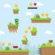 Green Dragon Platformer Game Tileset and Assets - GraphicRiver Item for Sale