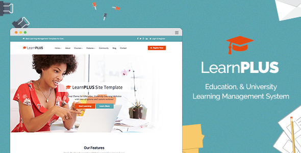 LearnPLUS | Education LMS Responsive Theme | Education