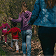 Mother is Running with Children - VideoHive Item for Sale