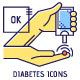 Diabetes Thin Line Icons Set - GraphicRiver Item for Sale
