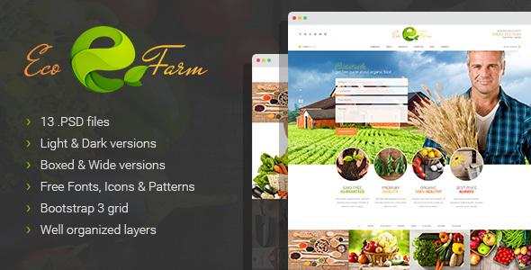 Eco Farm - Organic Food PSD Template