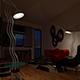 Living Room V-ray Night Scene Setup - 3DOcean Item for Sale