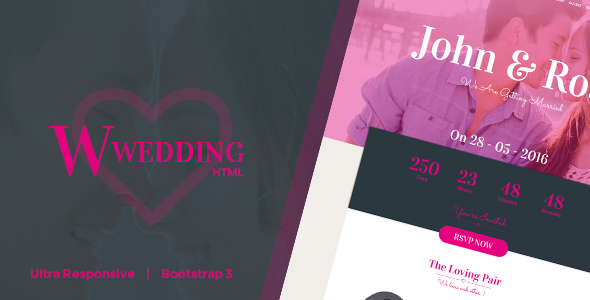 W-Wedding - Responsive Bootstrap Wedding Template
