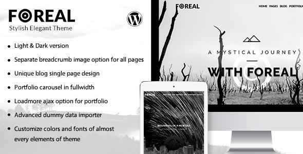 Foreal -  Director, Writer WordPress Theme