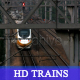 HD Trains pass each other /with sound - VideoHive Item for Sale