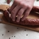 Man Is Cutting Homemade Smoked Sausage - VideoHive Item for Sale