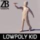Lowpoly Kid 004 - 3DOcean Item for Sale
