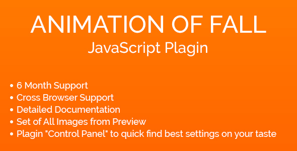 Animation of Fall JavaScript Plugin