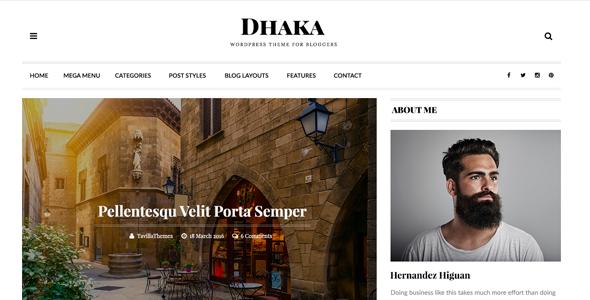 Dhaka - HTML5 Responsive Blog Template.