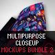 Multipurpose Closeup Mockups Bundle 02 - GraphicRiver Item for Sale