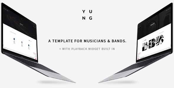 Y.U.N.G - Music Producer & DJ Bootstrap Template
