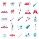 Dental Flat Icons Set - GraphicRiver Item for Sale
