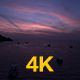 Flying Over Bay At Dusk, Aerial View - VideoHive Item for Sale