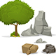 Tree and Stones - GraphicRiver Item for Sale