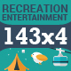 143x4 Icons for Recreation and Entertainment - GraphicRiver Item for Sale