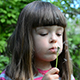 Little Girl Blowing A Dandelion - VideoHive Item for Sale