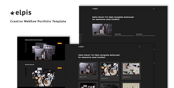 Elpis - Creative Webflow Portfolio Template