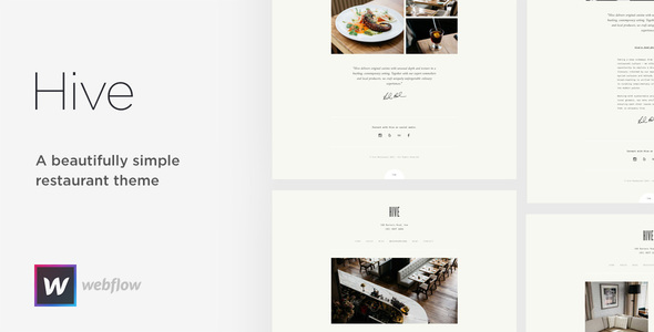 Hive - Restaurant & Cafe Webflow Template