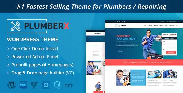 Plumber - Construction and Repairing WordPress Theme