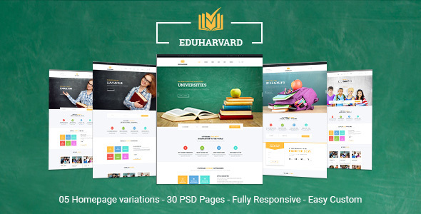 Eduharvard - Multiconcept Education & Courses PSD Template