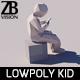 Lowpoly Kid 005 - 3DOcean Item for Sale