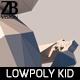 Lowpoly Kid 007 - 3DOcean Item for Sale