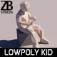 Lowpoly Kid 008 - 3DOcean Item for Sale