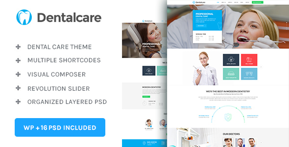Dental Care : Medical - Dentist - Health Wordpress Theme