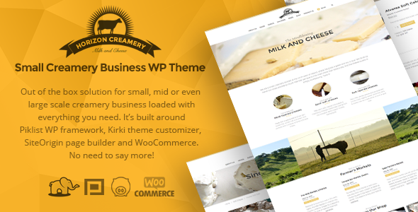 Horizon Creamery - WP business theme