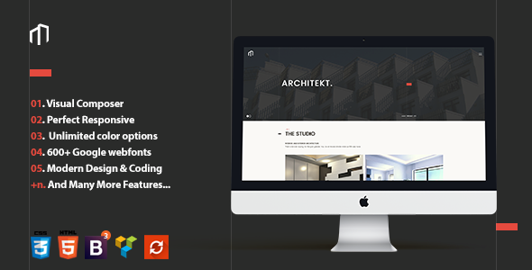 Minimalist Architecture WordPress Theme - ARCHITEKT