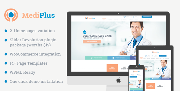 MediPlus - Responsive Theme for Medical and Health