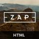 ZAP - Multi-Purpose HTML5 Template - ThemeForest Item for Sale