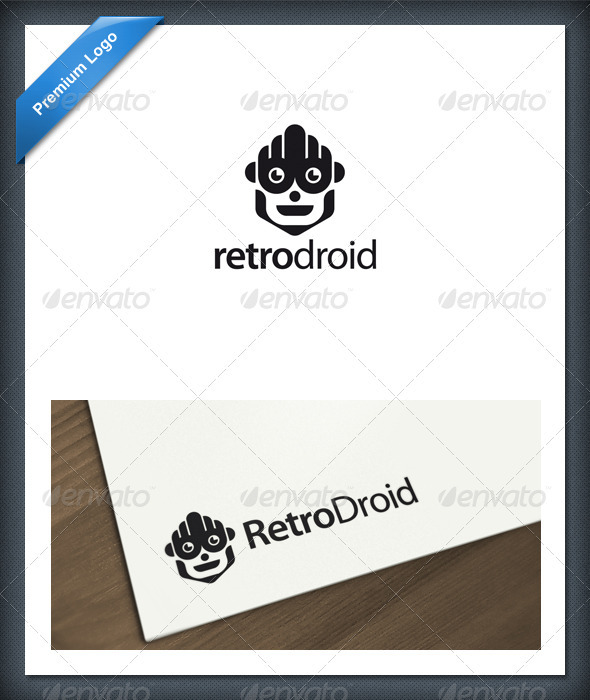 Android and Robot Logo Template