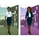 African Businesswoman In Office Interior - GraphicRiver Item for Sale