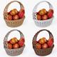 Wicker Basket 04 Set (4 Color) with Apples - 3DOcean Item for Sale