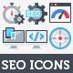 100 Flat Icons - SEO & Web Development - GraphicRiver Item for Sale