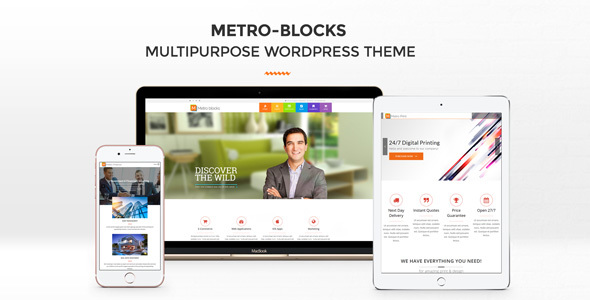Metro-Blocks - Multi-Business WordPress theme