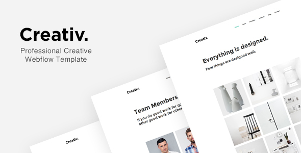 Creativ - Professional Creative Webflow Template