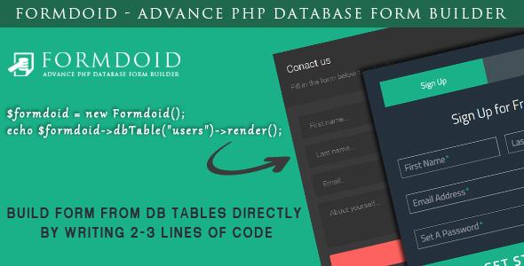 Formdoid - Advance PHP Database Form Builder Download