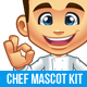 Chef Mascot Kit - GraphicRiver Item for Sale