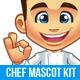 Chef Mascot Kit - GraphicRiver Item for Sale