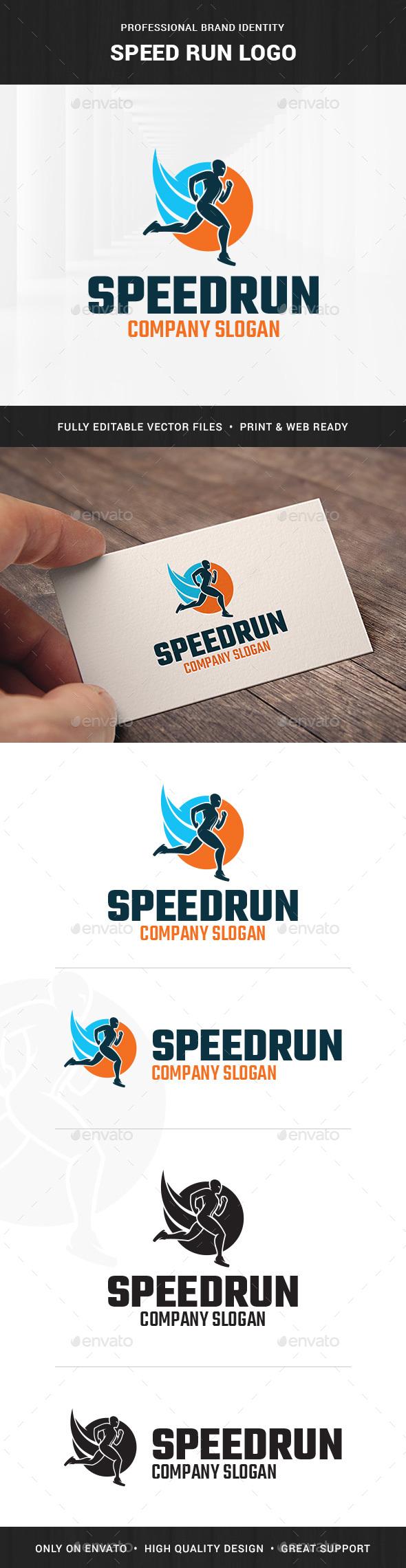 Speed Run Logo Template