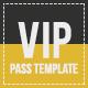 Multipurpose Vip Pass - GraphicRiver Item for Sale