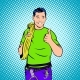 Rock Climber Comics Style - GraphicRiver Item for Sale