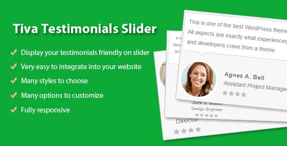 Tiva Testimonials Slider For Wordpress
