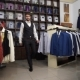 Fashion Man In Suit Posing In Wear Shop - VideoHive Item for Sale
