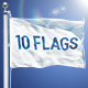 10 Realistic Flag Mockups Bundle - GraphicRiver Item for Sale