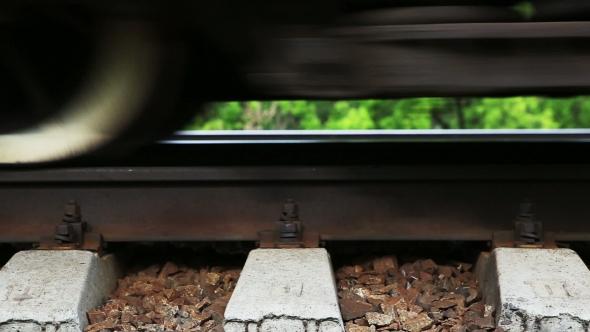 Train Wheel On a Rail.
