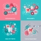 Dentistry Banners Set with Flat Icons - GraphicRiver Item for Sale