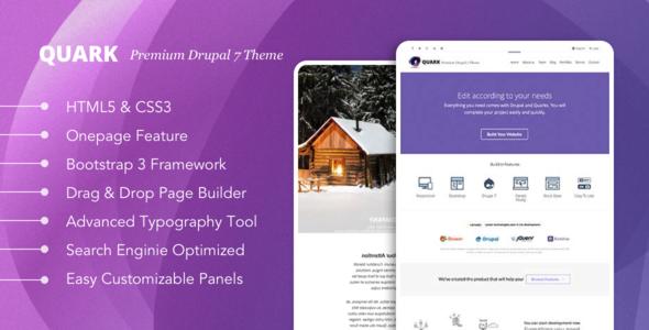 Quark: Responsive Multipurpose Drupal 7 Theme